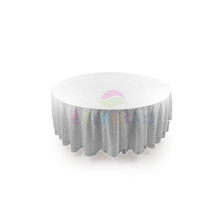 Beyaz örtülü yuvarlak masa