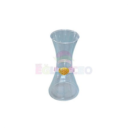 Cam kurdele dekorlu vazo