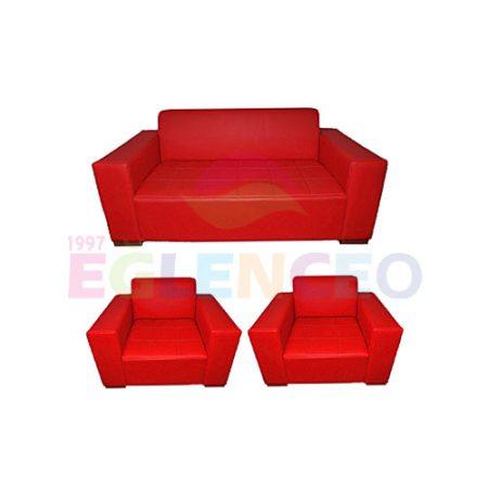 Kırmızı Deri Koltuk Takımı