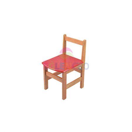 Renkli Ahşap Sandalyesi