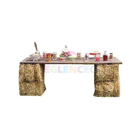Saman balyalı bar masası