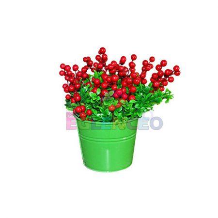 Yeşil Çiçekli kova