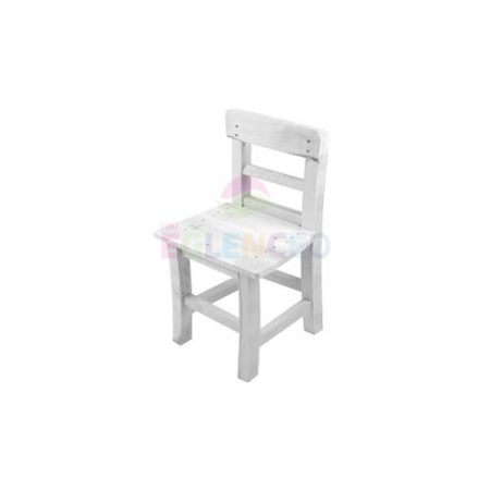 Beyaz Ahşap Çocuk Sandalyesi