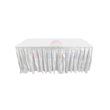 Beyaz Dikdörtgen masa örtüsü