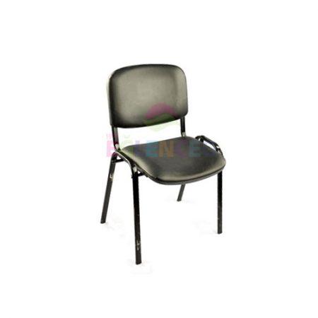 Demir Ayaklı Sandalye Siyah