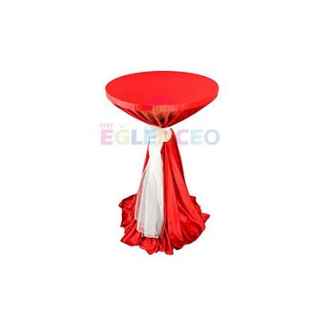 Kırmızı kokteyl masası