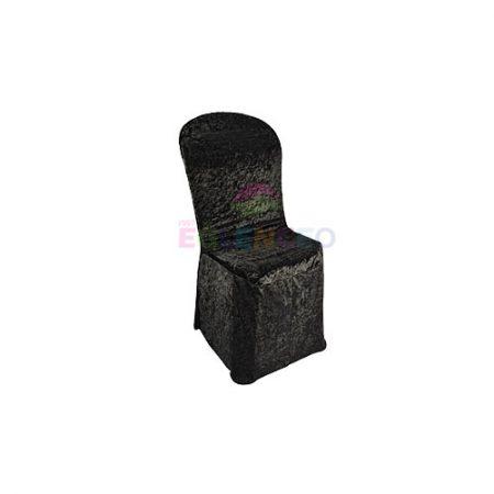 Siyah Streç Örtülü Sandalye