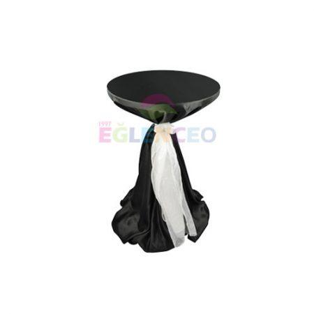 Süslenmiş kokteyl masası siyah