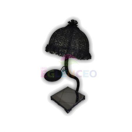Siyah abajur şamdan