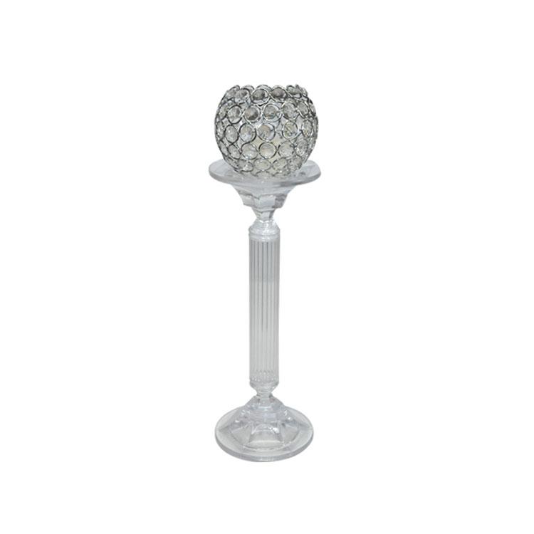Cam Kristal taşlı Küçük mumluk